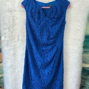 Adrianna Papell blue sleeveless lace dress sz 12P